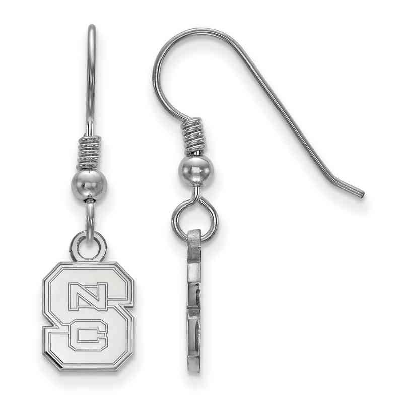 SS006NCS: SS LogoArt North Carolina State Univ XS Dangle Earrings