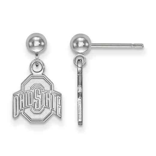 SS010OSU: SS LogoArt Ohio State Univ Earrings Dangle Ball