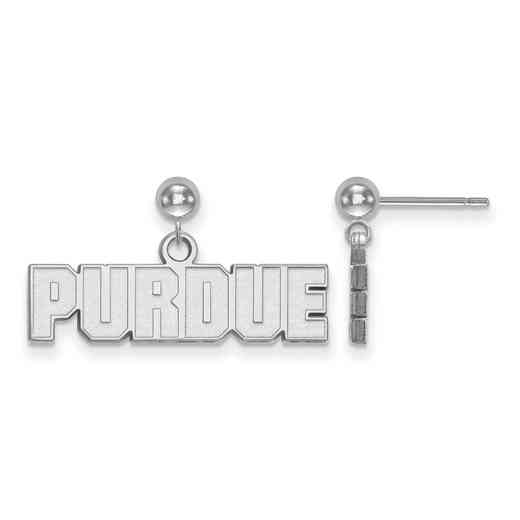 SS070PU: SS LogoArt Purdue Earrings Dangle Ball