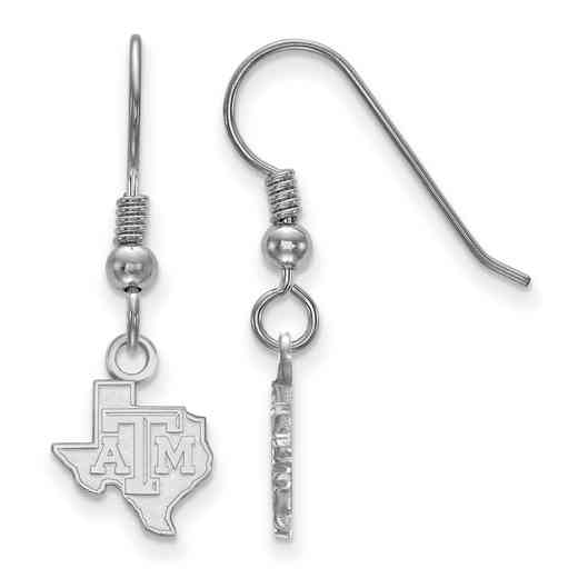 SS044TAM: SS LogoArt Texas A&M Univ XS Dangle Earrings