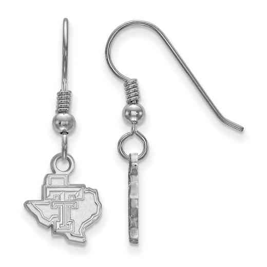 SS047TXT: SS LogoArt Texas Tech Univ XS Dangle Earrings
