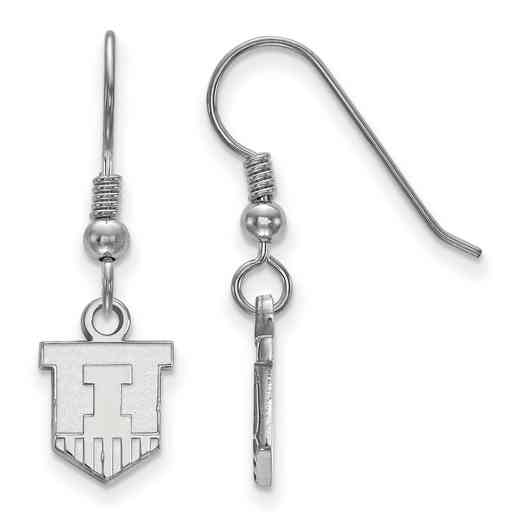 SS047UIL: SS LogoArt Univ of Illinois XS Dangle Earrings