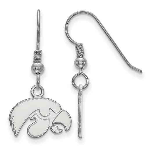 SS006UIA: SS LogoArt Univ of Iowa XS Dangle Earrings