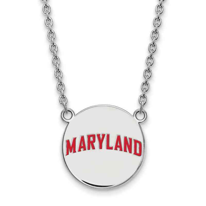 SS046UMD-18: SS LogoArt Maryland LG Enamel Disc Necklace