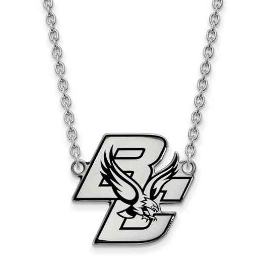 SS010BOC-18: SS LogoArt Boston College LG Enamel Pendant w/Necklace