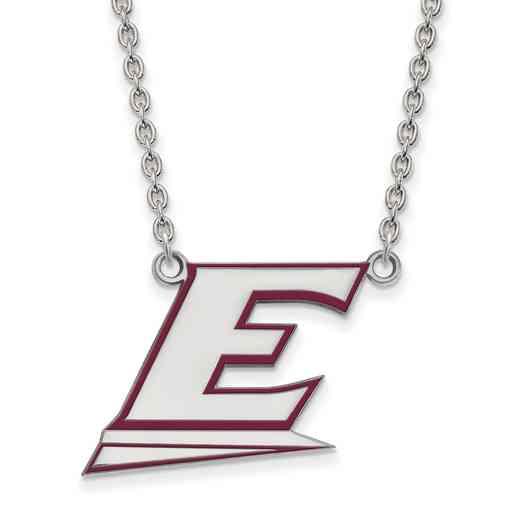 SS024EKU-18: SS LogoArt Eastern Kentucky U LG Enamel Pendant w/Necklace