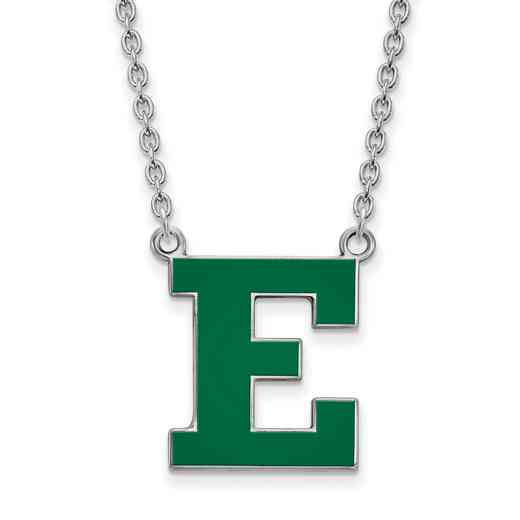SS026EMU-18: SS LogoArt Eastern Michigan U Enamel LG Pendant w/Necklace