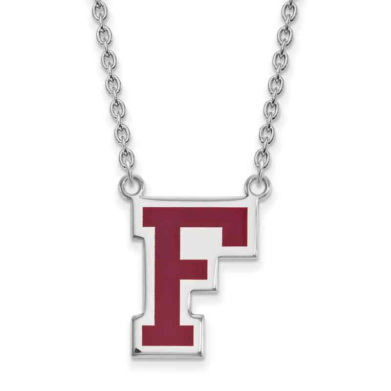 SS010FOU-18: SS LogoArt Fordham Univ Enamel LG Pendant w/Necklace