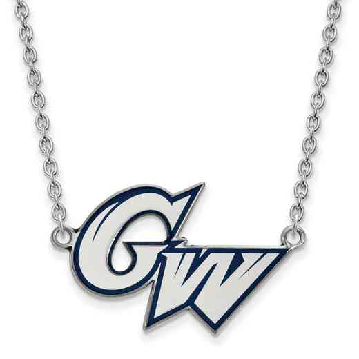SS009GWU-18: SS LogoArt The George Washington U Lg Enl Pendant w/Necklace