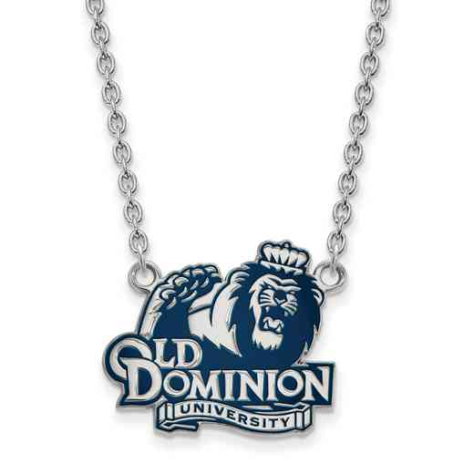 SS027ODU-18: SS LogoArt Old Dominion U LG Enamel Pendant w/Necklace