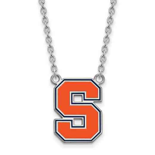 SS051SYU-18: SS LogoArt Syracuse Univ LG Enamel Pendant w/Necklace