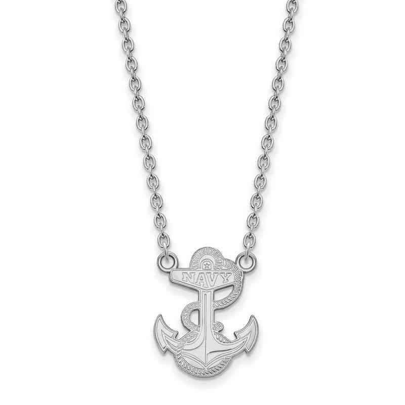SS028USN-18: SS LogoArt Navy LG Pendant w/Necklace