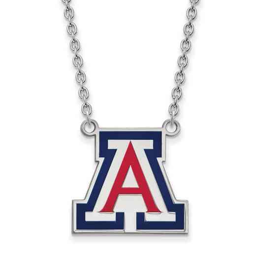 SS045UAZ-18: SS LogoArt Univ of Arizona LG Enamel Pendant w/Neckla
