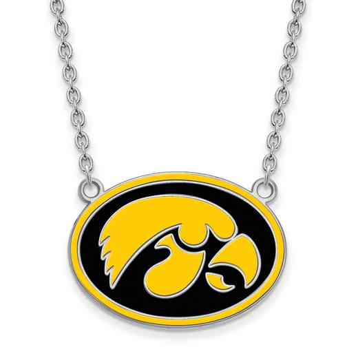 SS090UIA-18: SS LogoArt Univ of Iowa Enamel Pendant w/Necklace