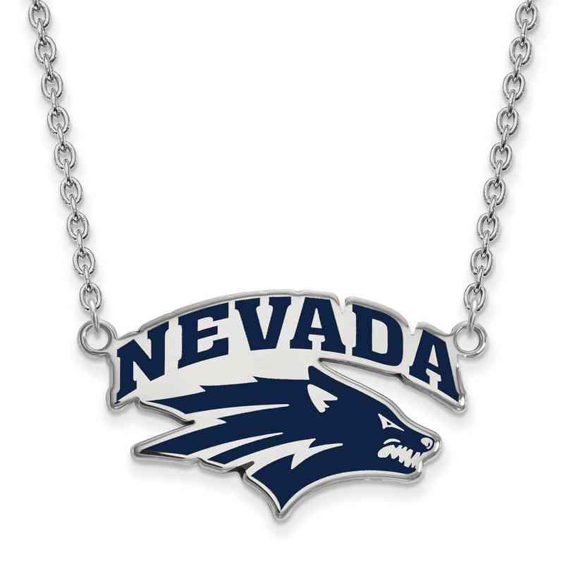 SS010UNR-18: SS LogoArt Univ of Nevada LG Enamel Pendant w/Necklac