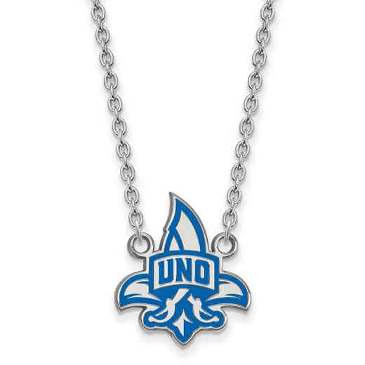 SS010UNO-18: SS LogoArt U of New Orleans LG Enamel Pendant w/Necklace