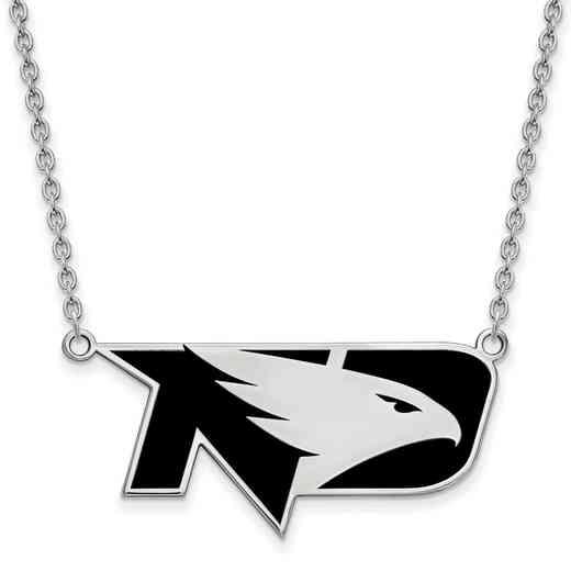 SS036UNOD-18: SS LogoArt U of North Dakota LG Enamel Pendant w/Necklace