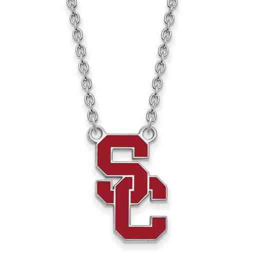 SS016USC-18: SS Univ of Southern California LG Pendant w/ Necklace