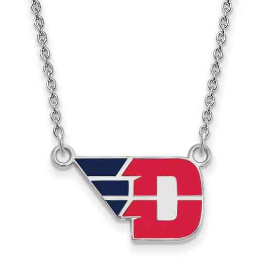 SS019UD-18: SS LogoArt Univ of Dayton SML Enamel Pendant w/necklac