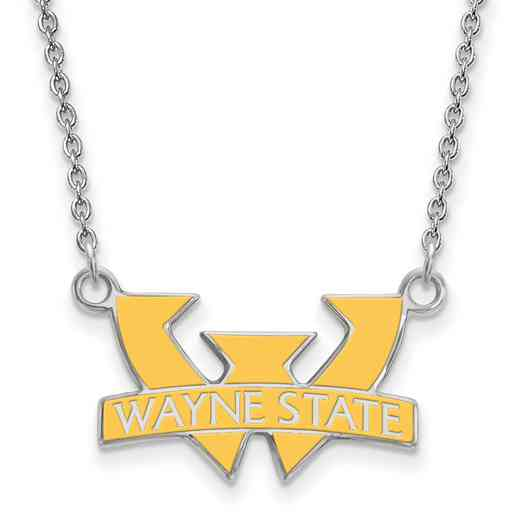SS012WAY-18: SS LogoArt Wayne St U SML Enamel Pendant w/necklace