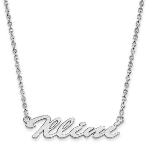 SS068UIL-18: SS LogoArt Univ of Illinois Medium Pendant w/Necklace
