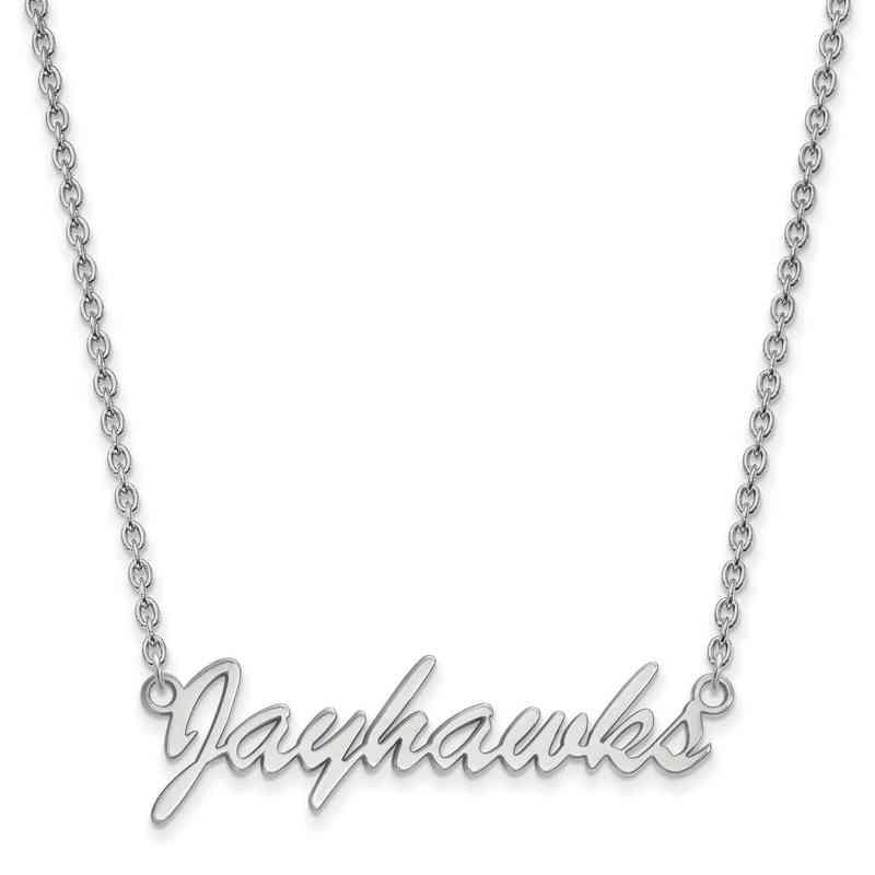 SS054UKS-18: SS LogoArt Univ of Kansas Medium Pendant w/Necklace