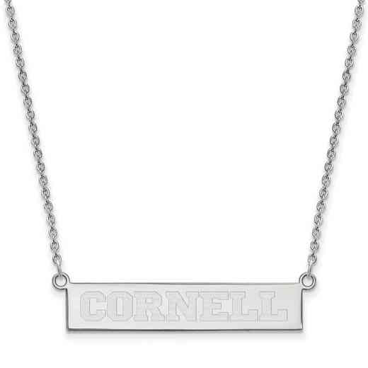 SS005COU-18: SS LogoArt Cornell Univ SML Bar Necklace