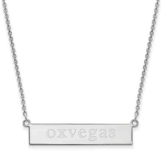 SS042MU-18: SS LogoArt Miami Univ SML Bar Necklace