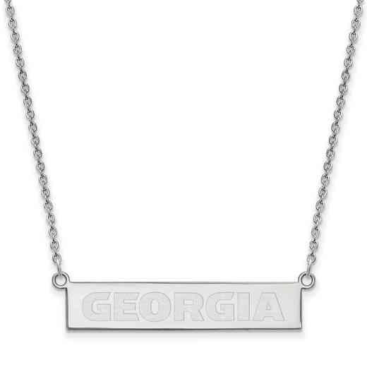SS084UGA-18: SS LogoArt Univ of Georgia SML Bar Necklace