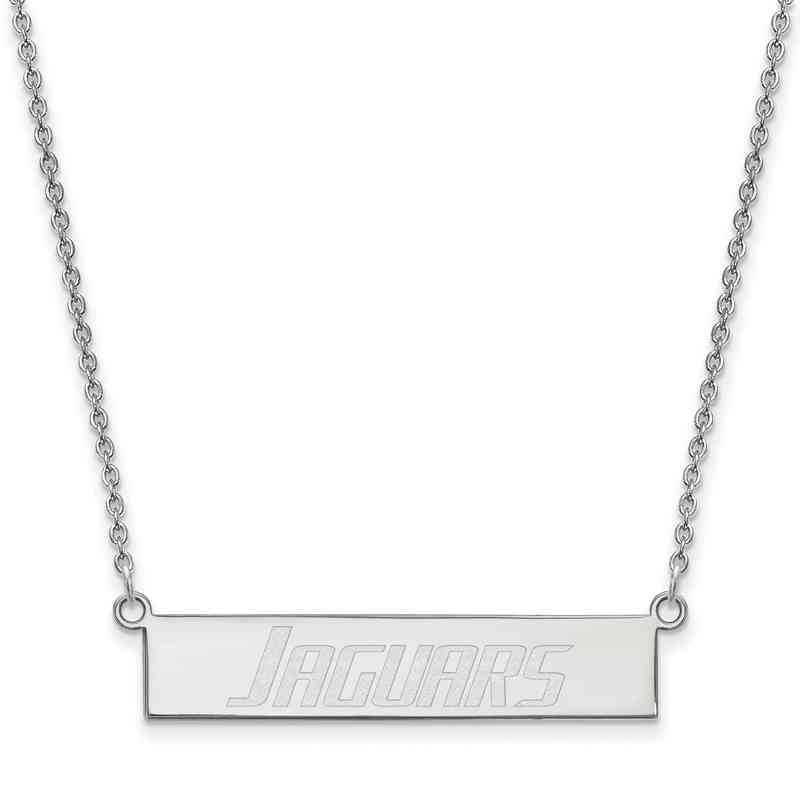 SS004SAL-18: SS LogoArt Univ of South Alabama SML Bar Necklace