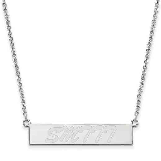 SS012USM-18: SS LogoArt Univ of Southern Mississippi SML Bar Necklace