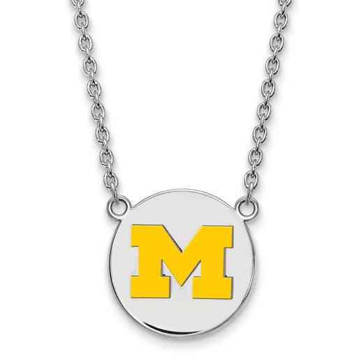 SS041UM-18: SS LogoArt Michigan Lg Yellow Enl Disc Pend w/Neckla