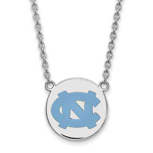 SS041UNC-18: SS LogoArt U of NorthCarolina Lg Enl Disc Pendant w/Necklace