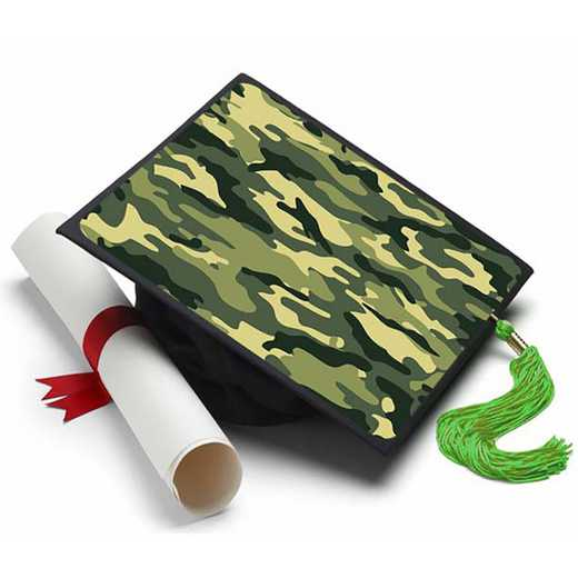 CAMOUFLAGE: Camouflage Grad Cap Tassel Topper