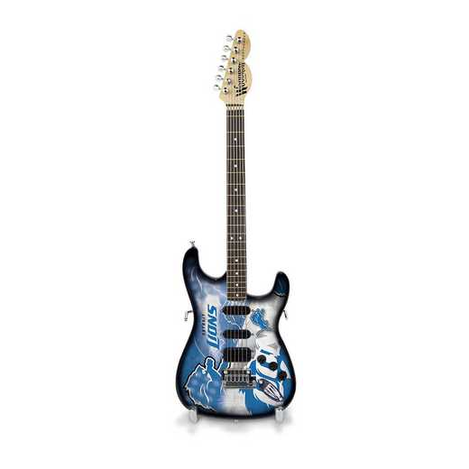 GMNFL11: TSV  Detroit Lions Mini Guitar