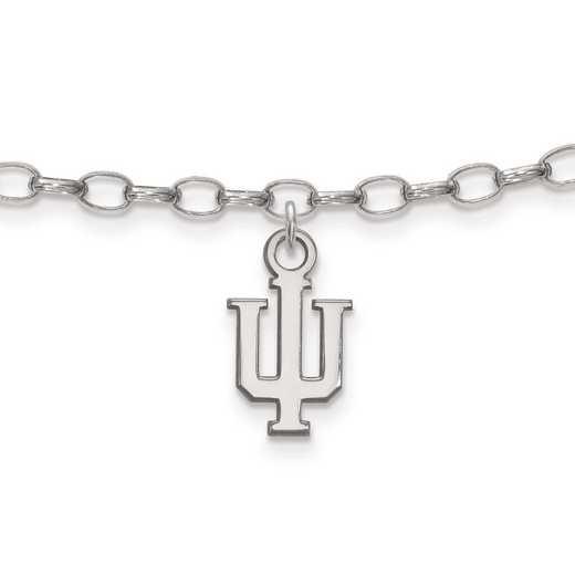 SS030IU: Sterling Silver LogoArt Indiana University Anklet