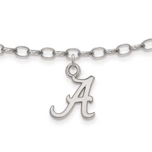 SS030UAL: Sterling Silver LogoArt University of Alabama Anklet