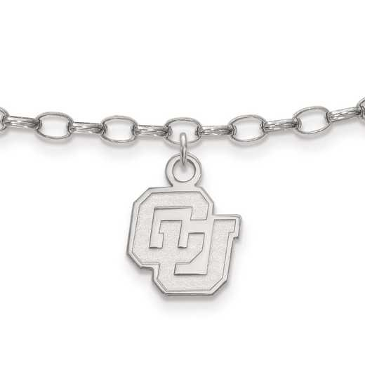 SS041UCO: Sterling Silver LogoArt University of Colorado Anklet