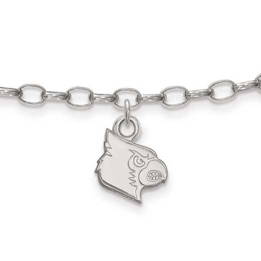 SS056UL: Sterling Silver LogoArt University of Louisville Anklet