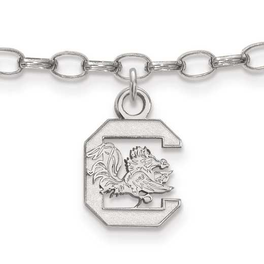 SS030USO: Sterling Silver LogoArt University of South Carolina Anklet