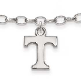 SS030UTN: Sterling Silver LogoArt University of Tennessee Anklet