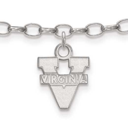SS030UVA: Sterling Silver LogoArt University of Virginia Anklet