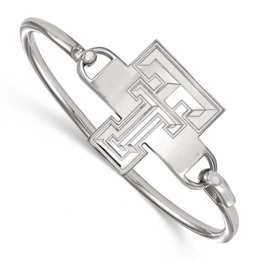 SS021TXT-7: SS LogoArt Texas Tech Univ Bangle