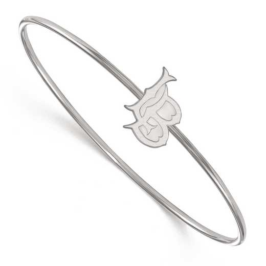 SS003CLB-7: SS LogoArt California St Univ, Long Beach Slip on Bangle