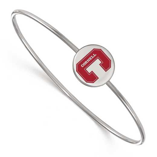 SS003COU-7: SS LogoArt Cornell Univ Epoxied Slip on Bangle