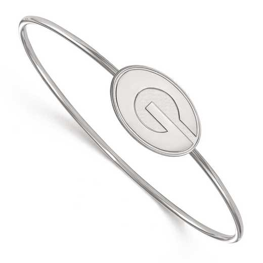 SS014UGA-7: SS LogoArt Univ of Georgia Bangle Slip on