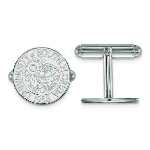 SS022USFL: SS LogoArt University of South Florida Crest Cuff Link