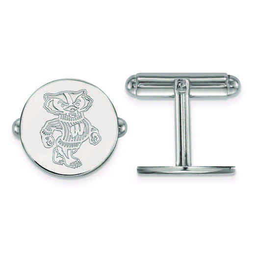 SS052UWI: SS LogoArt University of Wisconsin Cuff Link