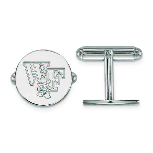 SS065WFU: SS LogoArt Wake Forest University Cuff Links
