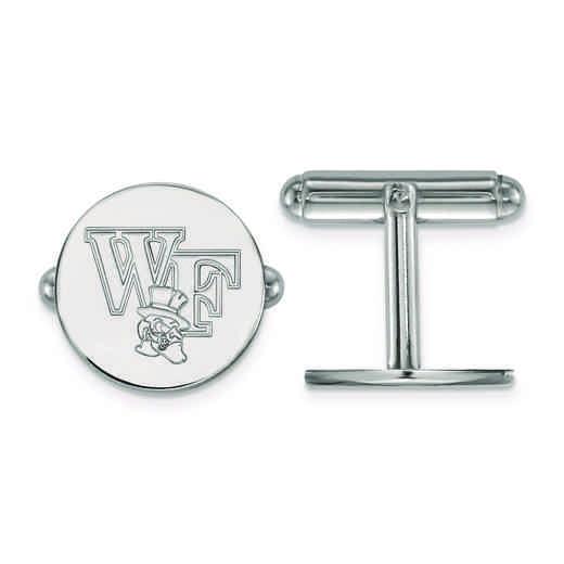 SS065WFU: SS LogoArt Wake Forest University Cuff Links